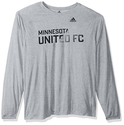 adidas Sweeper Climalite L/S Camiseta para Hombre, MLS, Hombre, Color Gris, tamaño Large