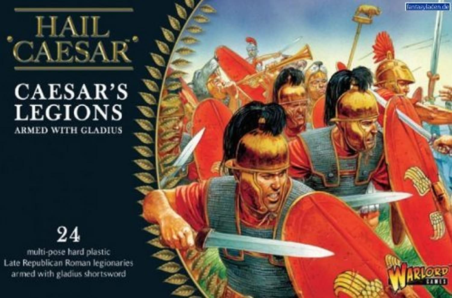 Pack Of 24 Caesarian Rouomos With Gladius Miniatures by Warlord giocos