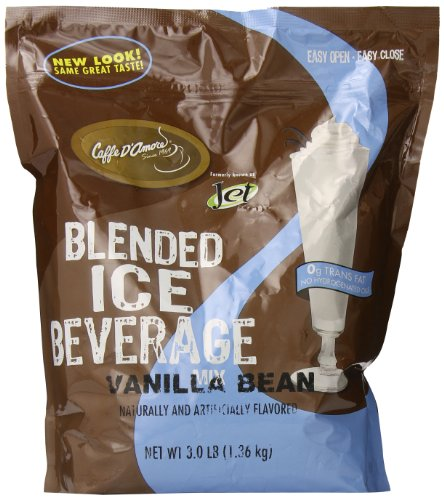 DaVinci Blended Ice Beverage, Vanilla Bean, 3 Pound Bag
