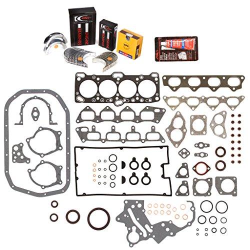 Evergreen Engine Rering Kit FSBRR5005\0\0\0 Fits 89-92 Mitsubishi Eagle Plymouth 2.0 4G63 4G63T Full Gasket Set, Standard Size Main Rod Bearings, Standard Size Piston Rings