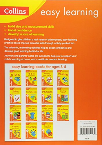Size and Measurement Ages 3-5: Ideal for home learning (Collins Easy Learning Preschool)
