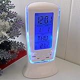 Mantavya Multi-Function Digital LED Clocks Alarm Clock Calendar Thermometer Display with Backlight...