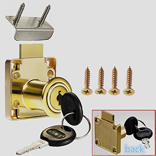 """Cabinet Lock, Drawer Lock, Mailbox Lock, Door Lock, Suitable for Wooden Cabinets. Model CT-138-22, (Opening Diameter 0.75""""/ 19MM) is Suitable for Door Panels with A Thickness of 17 mm-22 mm. 1 Pcs"""