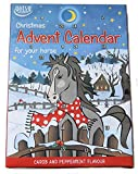 Calendario de Adviento para Caballos. Contiene 24 aperitivos para caballos basados en algarrobo.
