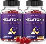 (2-Pack) Melatonin Gummies for Kids & Adults - Sleep Aid Gummy Vitamins - 2.5mg, 5mg or 10mg Dose - Vegan Natural Strawberry Flavor Supplement - Healthy Restful Deep Sleep Cycles - 120 Gummies