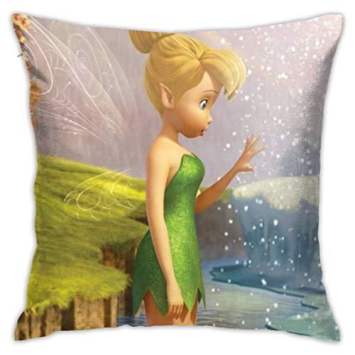 xiancheng Fundas de cojín Heavenly Battle Tinker Bell secreto de las alas, de algodón decorativo para salón, sofá, cama, funda de cojín suave, 45 x 45 cm