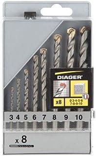 Percez plus vite plus longtemps Compatible marteau perforateur SDS Plus Foret Percussion Twister /Ø 16 x 460mm DIAGER