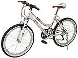 Benotto MSDMAD2421UNPL Bicicleta de Acero Rodada R24, Dama, Frenos V, 21 Velocidades