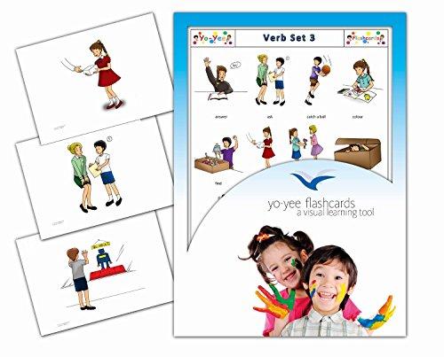Tarjetas con ilustraciones en inglés - Verbos 3 - a modo de juego, amplían el vocabulario básico, la construcción de frases y la gramática: para guarderías, escuelas de primaria o logopedia