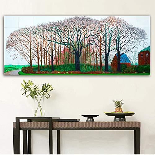 Lienzo pintura enorme cartel pared arte impresión para sala de estar, dormitorio paisaje imágenes B 24x64 cm