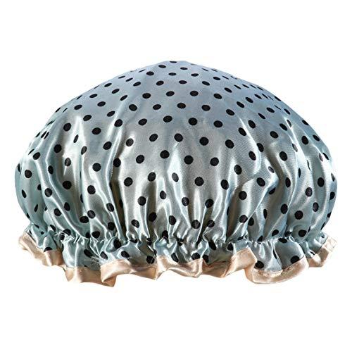 Healifty Chapeau de Douche Imperméable Épaissir Double Couche Pratique Chapeau de Douche Bonnet de Douche Chapeau de Bain pour Dame Femmes Fille (Bleu Ciel)