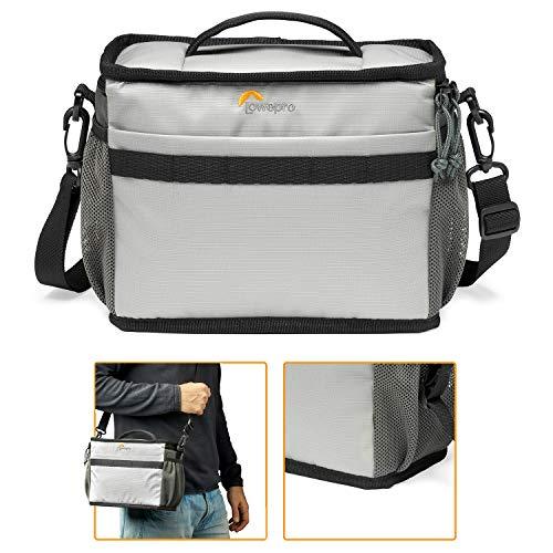 Lowepro LP37252-PWW - Bolsa de Hombro para cámara Ext. Truckee SH 160 LX para DSLR compacta/cámara sin Espejo, Sony, Canon, Nikon, Kit de Objetivo, Gimbal de Mano, Dron, dji, Osmo, Mavic, Gris Claro