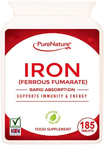 Iron | 185 Tablets | 6 Months Supply | PureNature