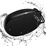 Bluetooth Speaker, LFS Portable Wireless Speakers with 10W Louder Stereo Sound & Rich Bass, 80ft Bluetooth Range, 12H Playtime - Support TF Card for Home, Sports, Travel, Outdoors (Black)