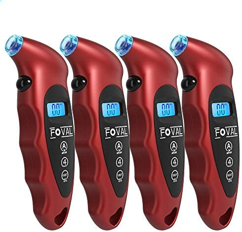 Foval Digital Tire Pressure Gauge 150 PSI for Car Truck Bicycle Instant Read with Backlit LCD product image
