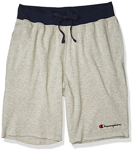 Champion Men's MIDDLEWEIGHT Short, Oxford Grey/Navy, Small