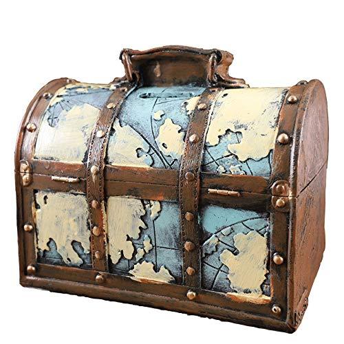 Caja de Dinero Retro Resina Creativa Caja de Dinero Adulto Billetes de Banco domésticos y Monedas Caja de Dinero (Color : A)