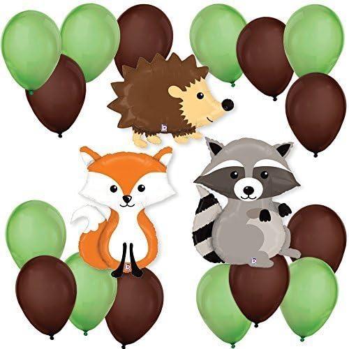 Winter Wonderland Shower Woodland Holidays Woodland Holiday Balloon Woodland Animal Balloons Holiday Balloons