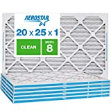 Aerostar Clean House 20x25x1 MERV 8 Pleated Air Filter, Made in the USA, 6-Pack,White