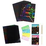 Kratzbilder Set 40 Große Blätter Kratzpapier zum Zeichnen und Basteln