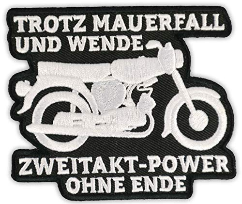 Aufnäher Aufbügler Moped Ostdeutschland 2Takt Power