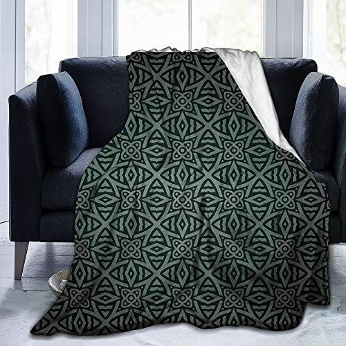 Medieval Folkloric Ornament Celtic Abstract Floral Circles 80'x60' Fleece Blanket Foot s for Adult Women Men, Micro Plush Wrap Sleeved Throw Blanket Robe Large