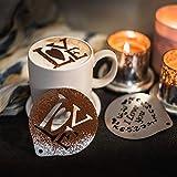 Idéal pour cafés au lait, chocolat chaud, etc. ! Décorez vos boissons préférées Environ 8.5 cm de diamètre Créez une boisson qui a un aspect professionnel Facile à nettoyer avec seulement de l'eau et du savon