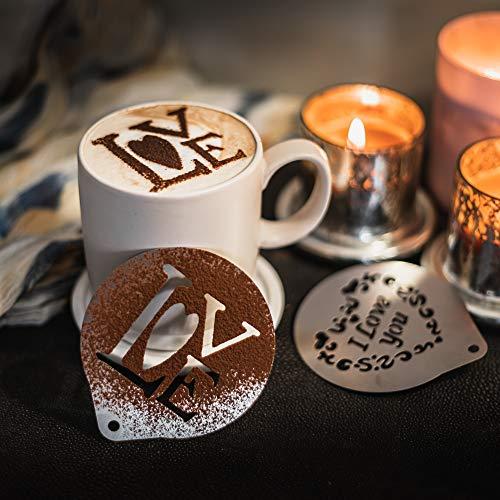 TRIXES Kit 2 Articles Pochoir Café Love St-Valentin Design Romantique