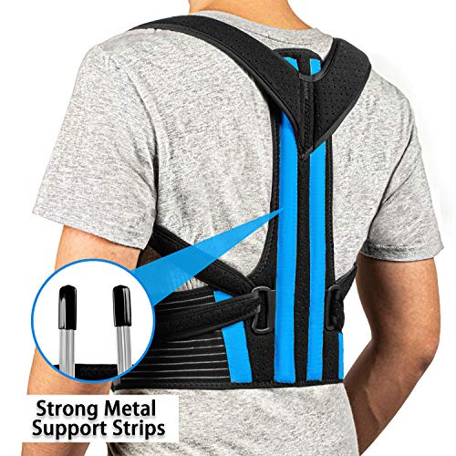 FEATOL Posture Corrector - Best Back Brace for Men & Women – Adjustable Support Brace for Pain Relief from Neck, Back & Shoulder – Please Check Sizing Chart …