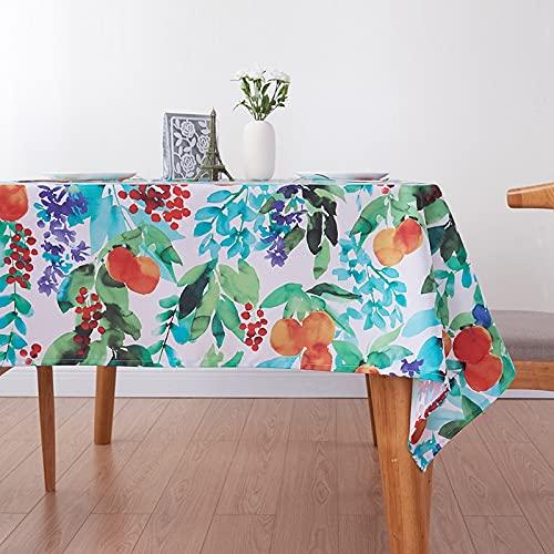 Mantel de Estilo Fresco de Japón, Corea, Planta, Estampado de Cereza, Mantel Rectangular para decoración de Cocina, Cubierta R 140x220cm