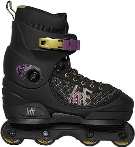 KRF The New urban Concept Unisex-Youth KRF Aggressive Pre Inlineskates, Negro/Morado, 37-38-40-42-46