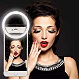 THE MOBILE PHONE RING LIGHT IS CONVENIENCE AND LIGHTWEIGHY DEVICE AND:-IT Can be carry in your hand bag, purse or pocket to any where . Easy to clip or apply the ring light on the phone and the phones light turn on to take the ultimate selfie. RING L...