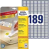 AVERY Zweckform L4731REV-25 Universal-Etiketten (25,4x10mm auf DIN A4, wieder rückstandsfrei ablösbar/abziehbar, bedruckbar, selbstklebend, 4725 Klebeetiketten Plus 945 Etiketten extra, 30 Blatt) weiß