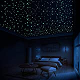 LUMOSX Glow in The Dark Stars for Ceiling Decor - 822 pcs 3D Domed Glow in The Dark Stickers Ceiling Stars w/Bonus Constellation E-Book | Glow Stars, Star Ceiling for Kids Room Decor Kids Wall Decor