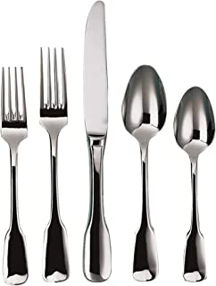 Ginkgo International Alsace 20-Piece Stainless Steel Flatware Place Setting, Service for 4