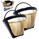 GoldTone Brand Reusable #4 Cone replaces your Ninja Coffee Filter for Ninja Coffee Bar Brewer - BPA Free - Made in USA - 2 PACK