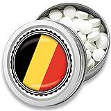 FAN Mint | 3er Set Pfefferminz Bonbons mit Belgien Flagge | Geschenk, Souvenir Belgien Fahne | Bonbon-Dose, Fan-Artikel, Party Deko (Belgien)
