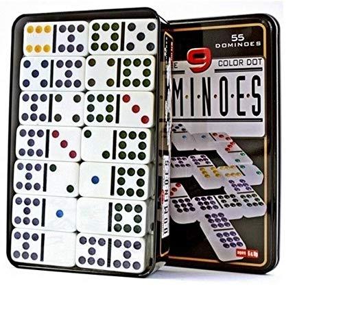 EMCEURO Juego de Domino Doble 9 de Colores 55 fichas + Caja...
