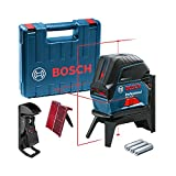 Bosch Professional Nivel láser GCL 2-15 (láser rojo, interior, con puntos de plomada, alcance: 15 m, 3 pilas AA, soporte giratorio RM 1, placa reflectora láser, estuche de protección, maletín)