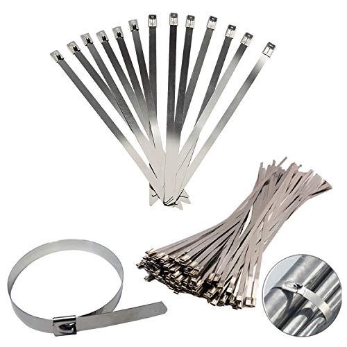 LULIJP Cable Lazos 10pcs de Acero Inoxidable de uniones de Cable de...
