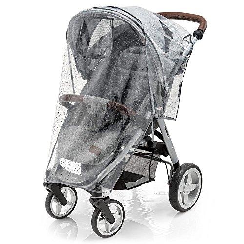 Universal Komfort Regenschutz für Buggy und Sportwagen - gute Luftzirkulation, verschließbares Kontakt-Fenster, einfache Montage an jedem Kinderwagen, PVC-frei