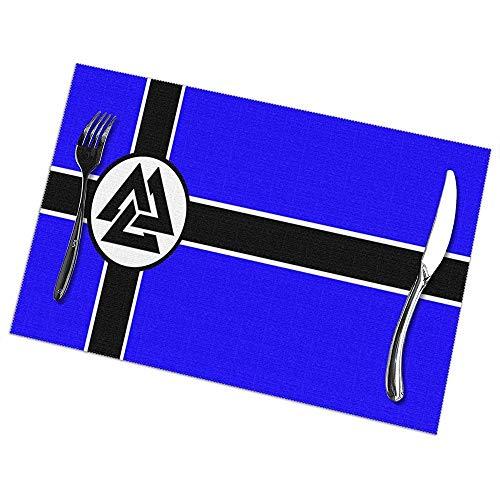 Alvahw Bandera de nuevos manteles Individuales Valhalla para Mesa de Comedor Juego...