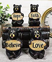 Bear gifts sets with Believe, Faith, Love, Hope four sculptures