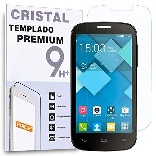 REY Protector de Pantalla para ALCATEL Pop C7 One Touch OT Cristal...