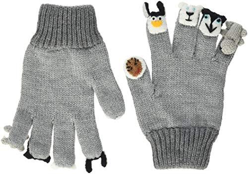 Döll Döll Baby-Unisex Fingerhandschuhe Strick Handschuhe, Grau (Light Gray Melange 8100), S (Herstellergröße: 3)