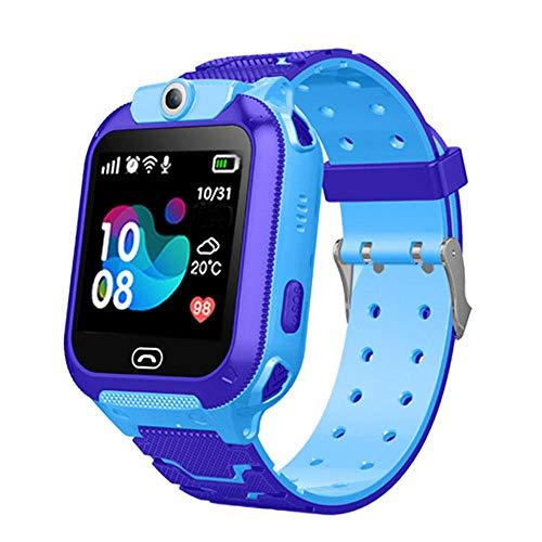 1,4 Zoll Armbanduhr mit personalisiertem Bildschirm Kinder SmartWatch Fitness Tracker mit BlutdruckmessungSchrittzähler Geschenk für Kinder(41 g)-Blau