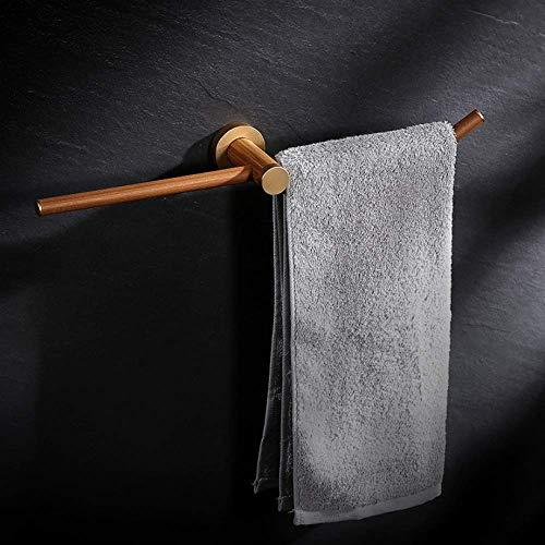 Wtbew-u Toallero para baño, toallero de barra de toalla de madera montado en la pared, toallero doble barra de madera ecológica antigua para cocina 43,7 cm