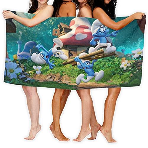 Cute Phones The Pitufos Toallas Lujosa sábana de baño Jumbo 100% fibra superfina, muy absorbente y de secado rápido, toalla de baño extra grande, toalla de calidad de hotel