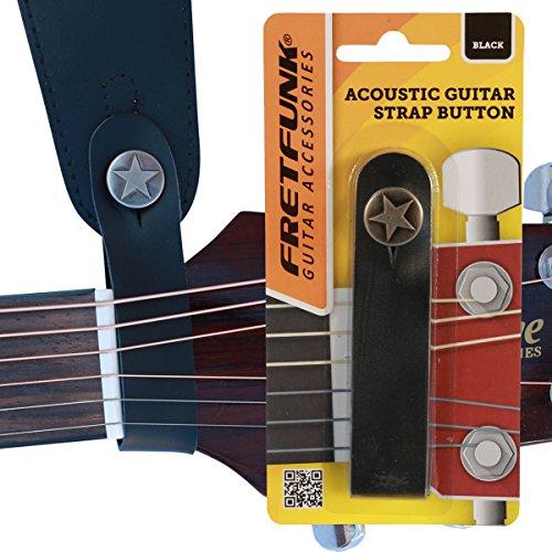 Fretdraadloze armband voor akoestische gitaren met knop
