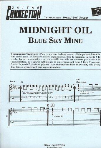 BLUE SKY MINE - Guit Tab & Sol & Paroles (GUITAR CONNECTION) Transcription D Pochon (feuillet)